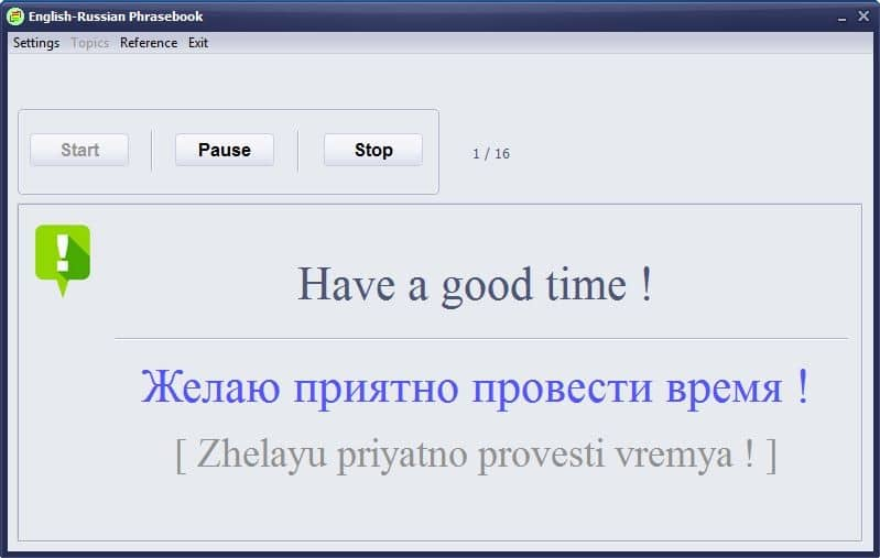 English-Russian Phrasebook full screenshot